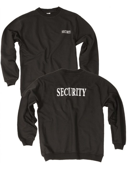 SECURITY BLACK SWEATSHIRT