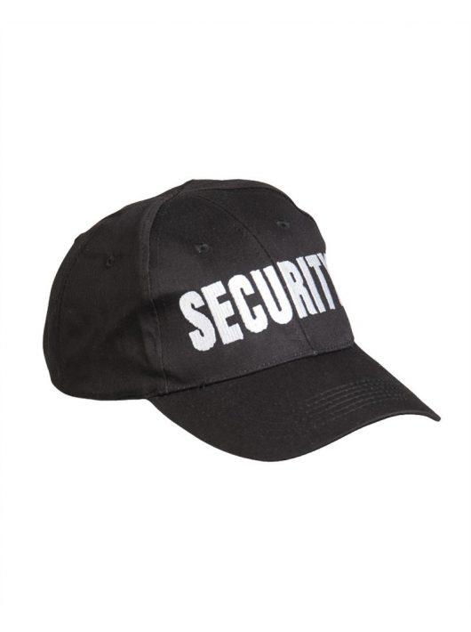 SECURITY BLACK BASEBALL CAP EMBROID