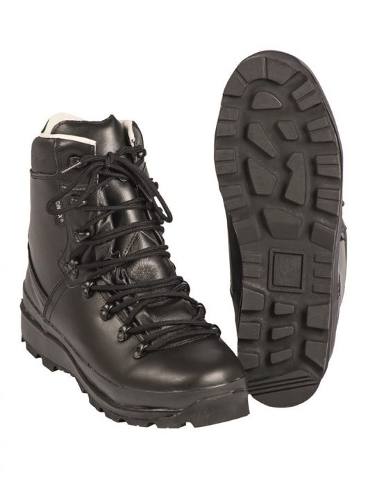 GERMAN BLACK LAMIN.LINED MOUNTAIN BOOTS