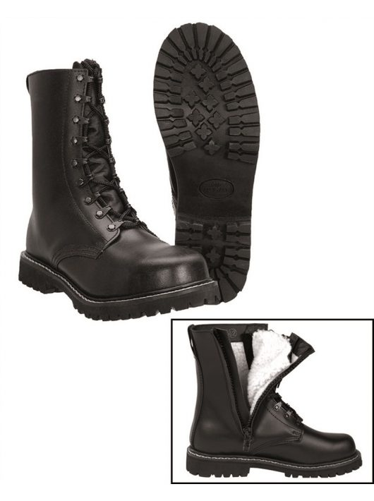 PARA BOOTS WITH PILE LINING AND ZIPPER