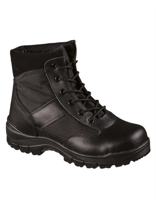 SECURITY  BLACK LOW BOOTS